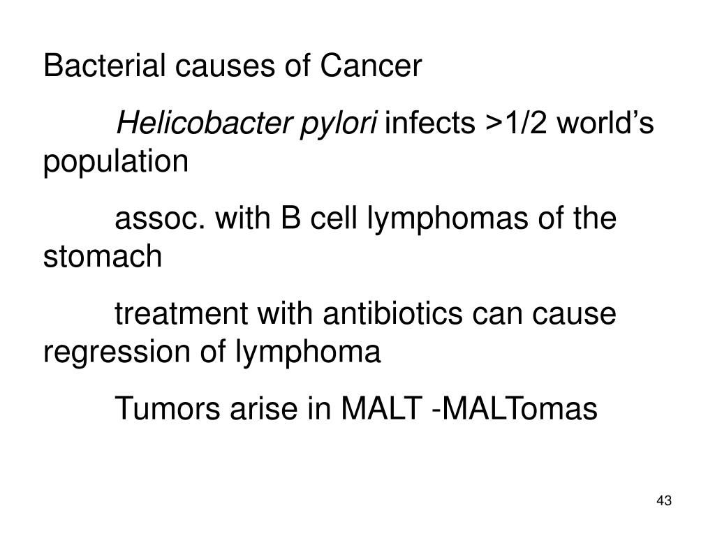 Bacterial causes of Cancer