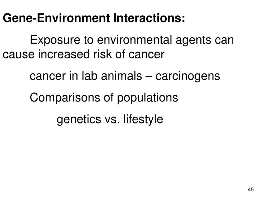 Gene-Environment Interactions: