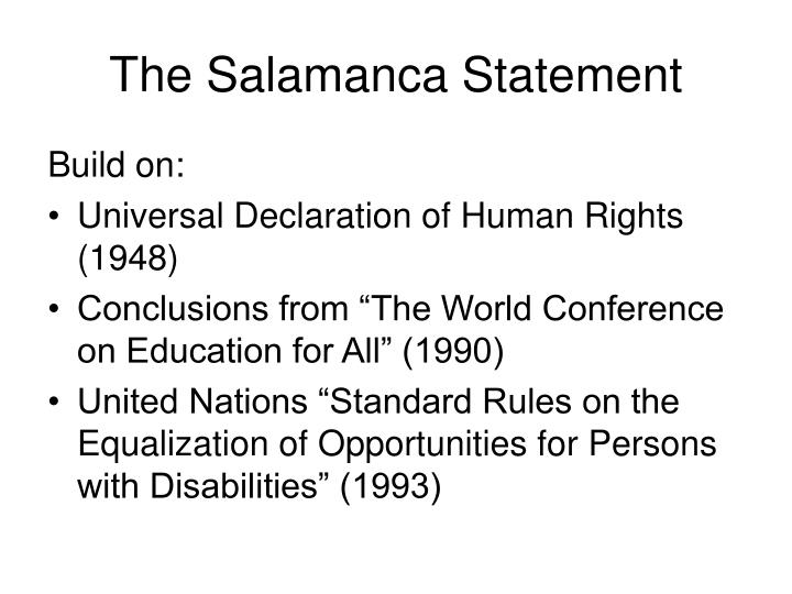 The salamanca statement3