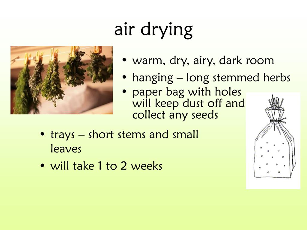 air drying