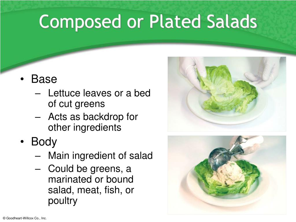 Composed or Plated Salads