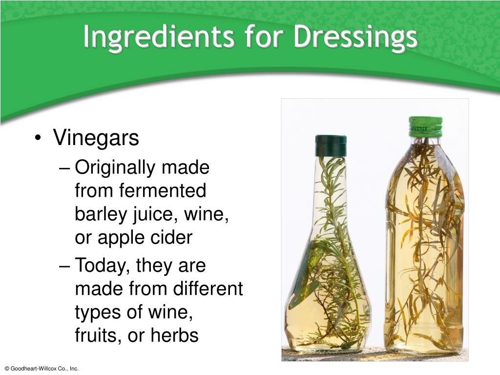 Ingredients for Dressings