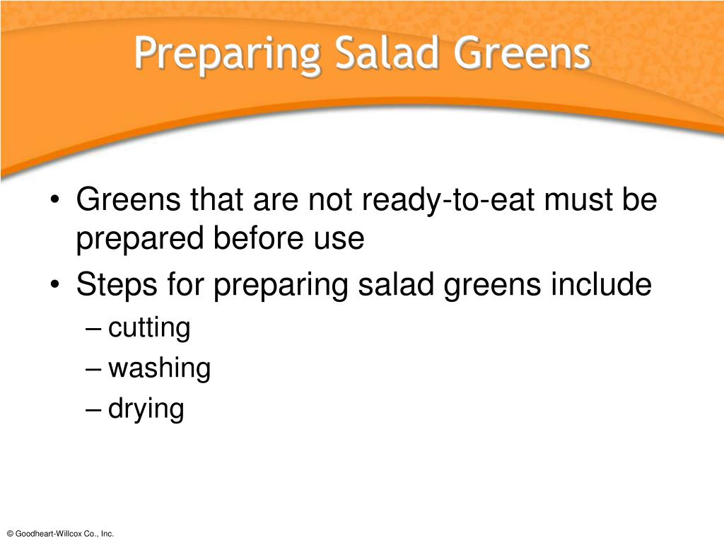 Preparing Salad Greens