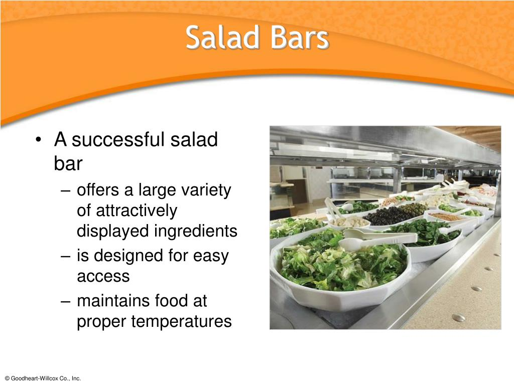 A successful salad bar