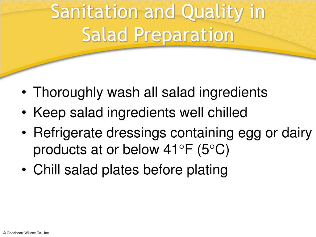 Sanitation and Quality in