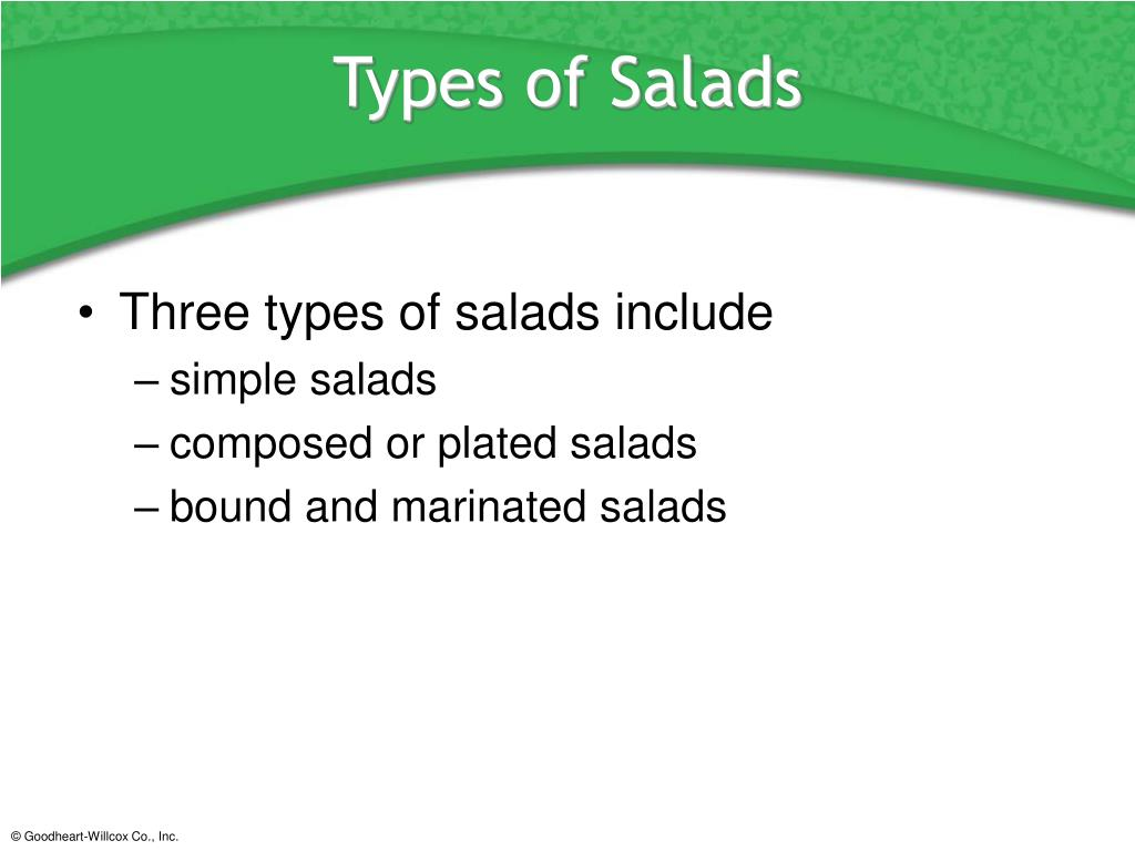 Types of Salads