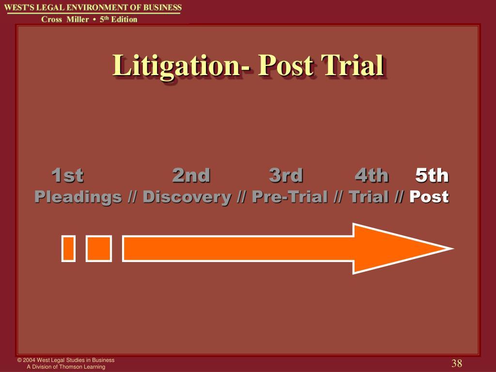 Litigation- Post Trial