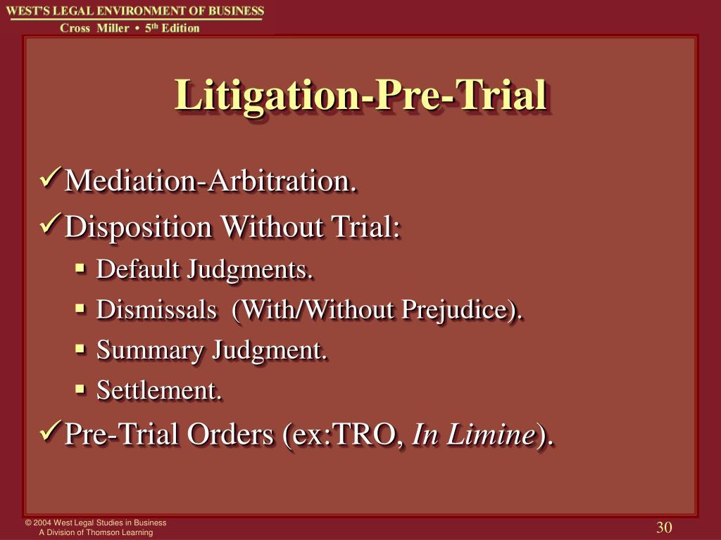 Litigation-Pre-Trial