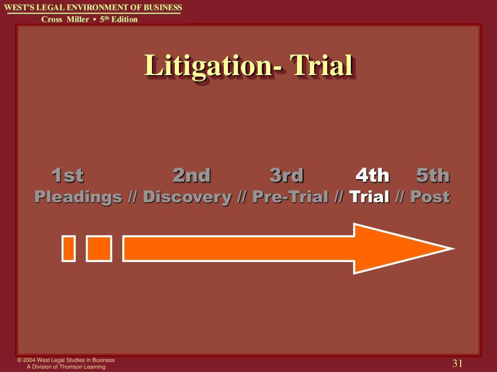 Litigation- Trial