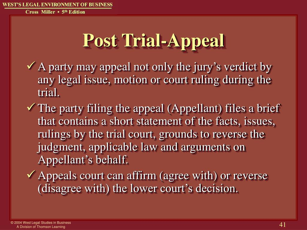 Post Trial-Appeal