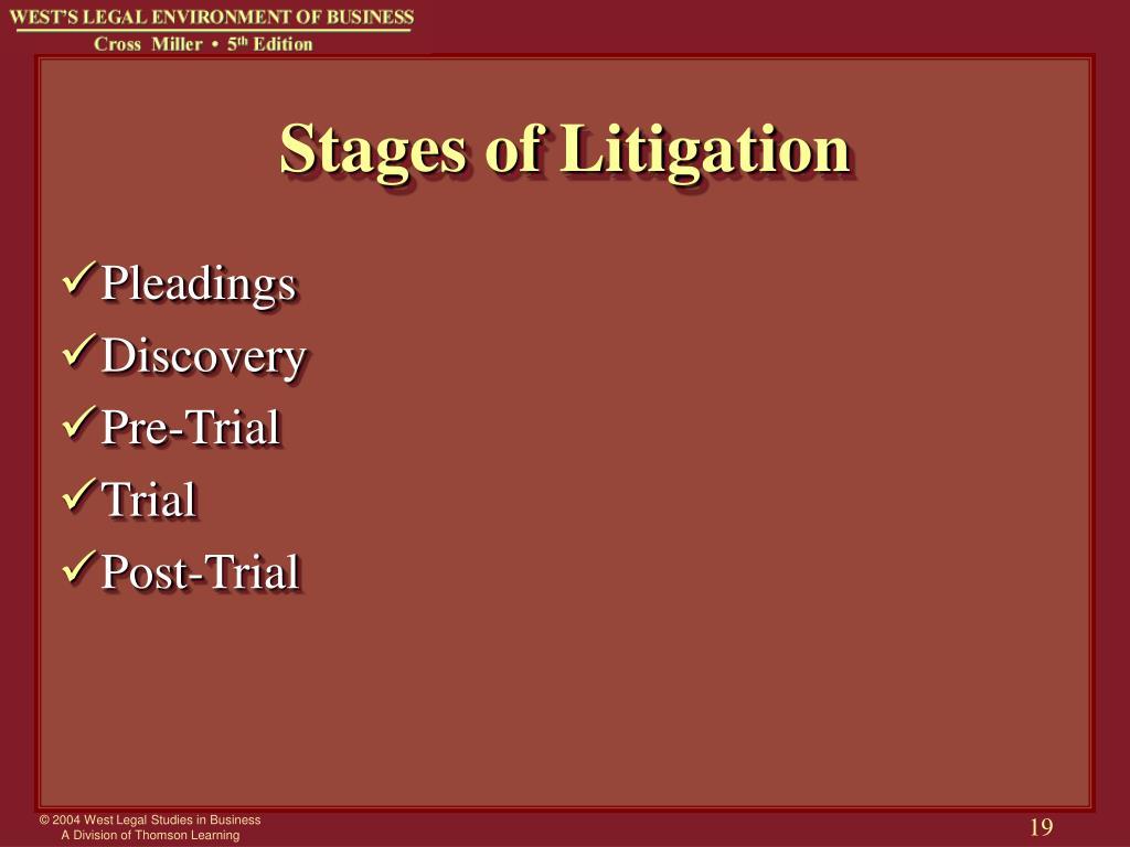 Stages of Litigation