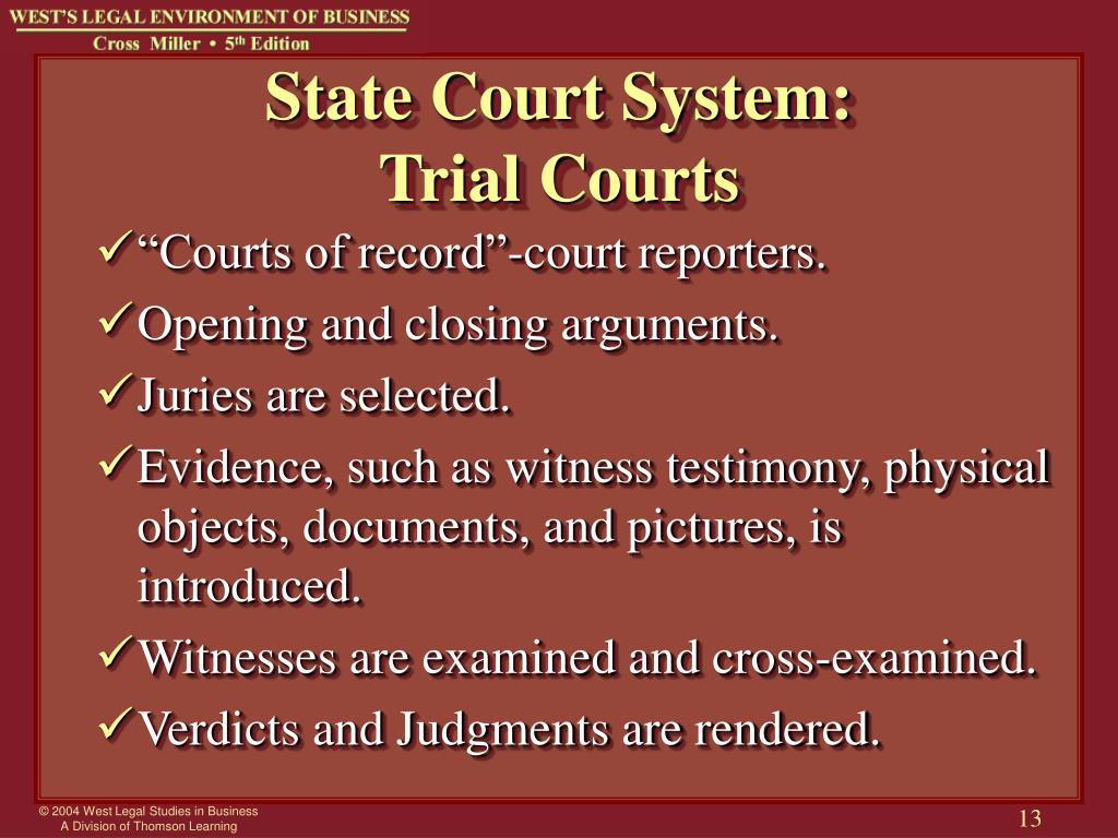 State Court System: