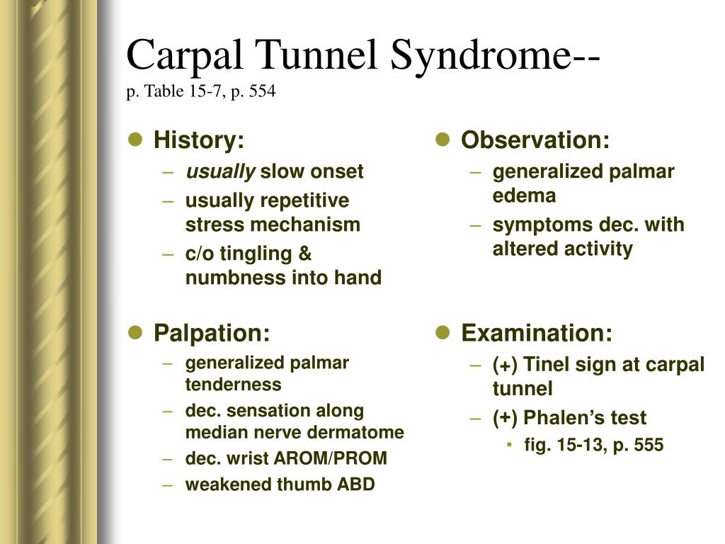Carpal Tunnel Syndrome--