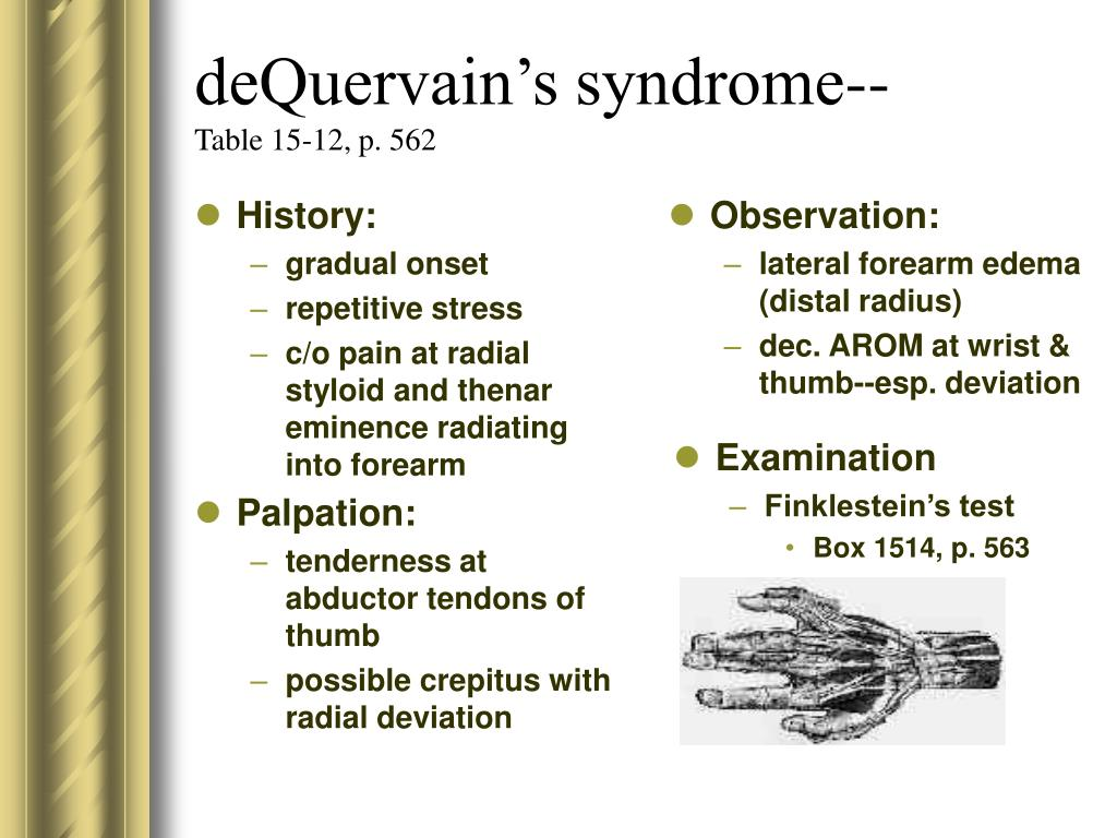 deQuervain's syndrome--