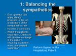 1 balancing the sympathetics