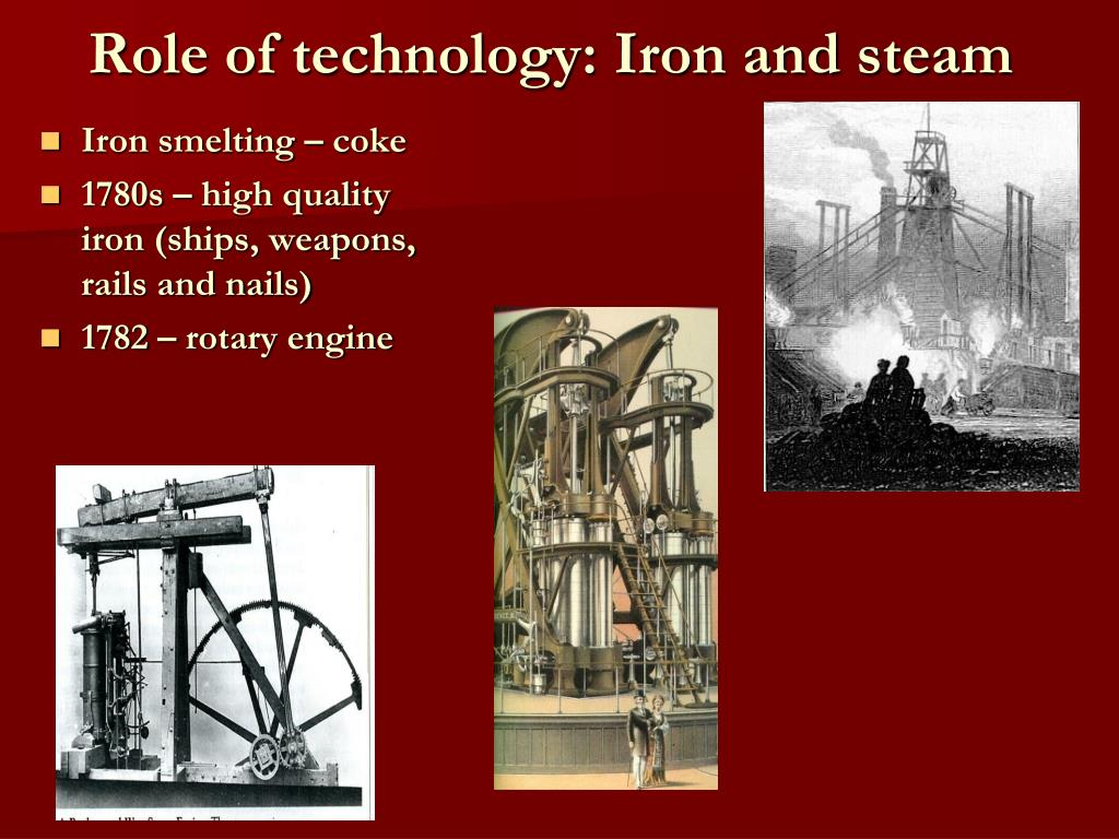 Role of technology: Iron and steam