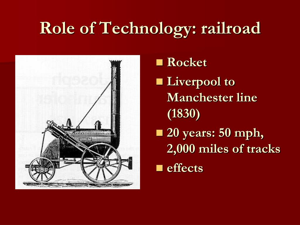 Role of Technology: railroad
