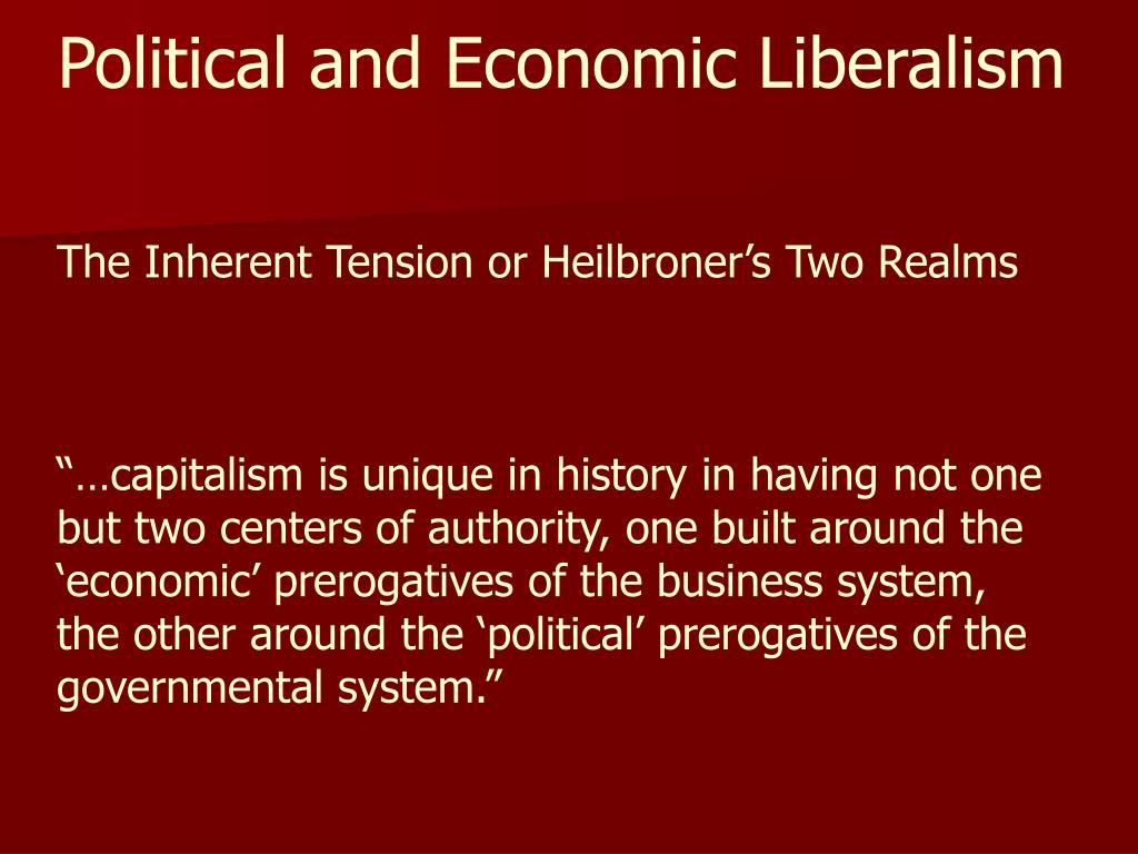 Political and Economic Liberalism