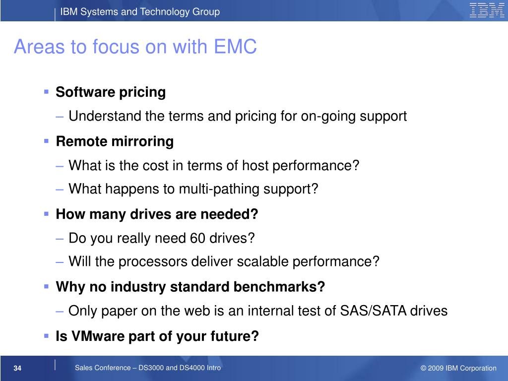 Areas to focus on with EMC