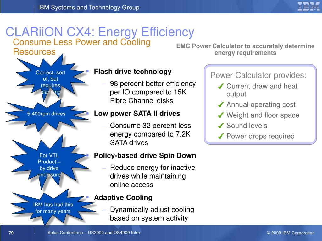 CLARiiON CX4: Energy Efficiency