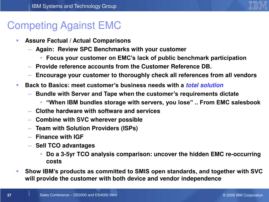 Competing Against EMC
