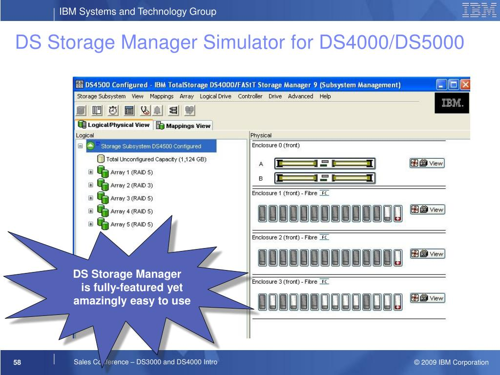 DS Storage Manager Simulator for DS4000/DS5000