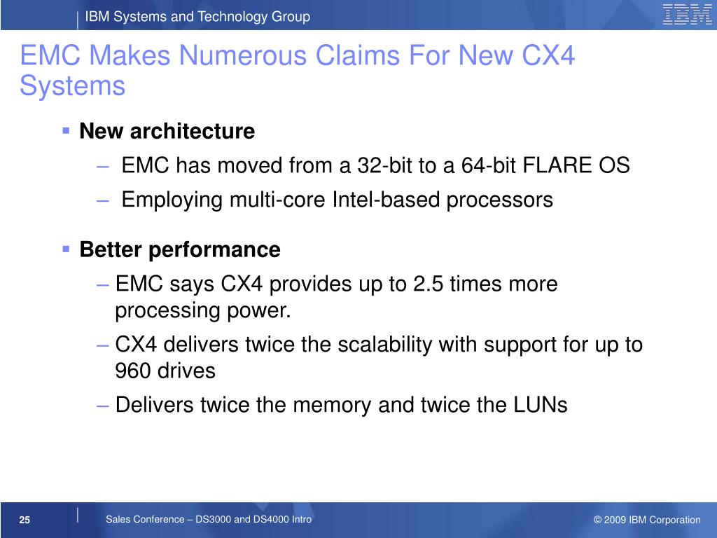 EMC Makes Numerous Claims For New CX4 Systems