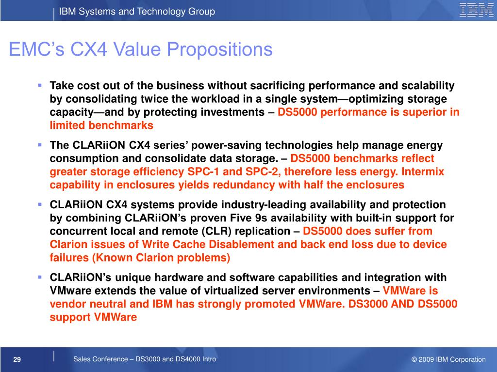 EMC's CX4 Value Propositions