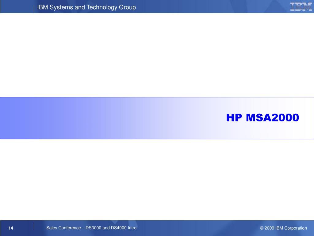 HP MSA2000