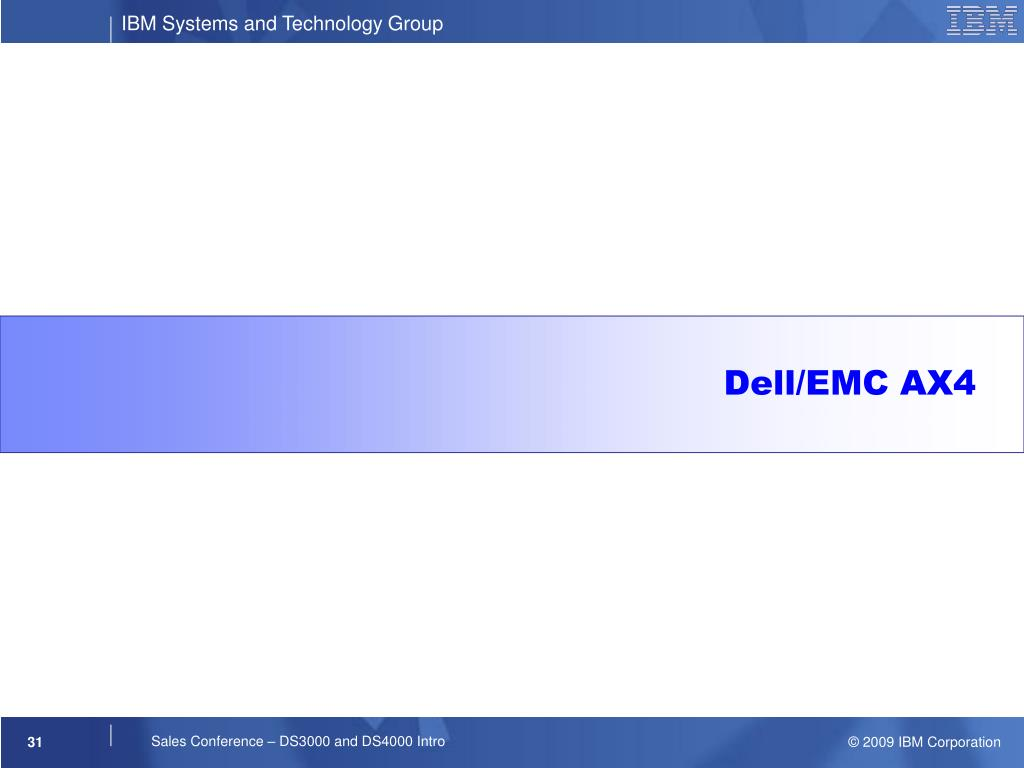 Dell/EMC AX4