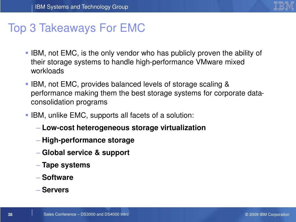 Top 3 Takeaways For EMC