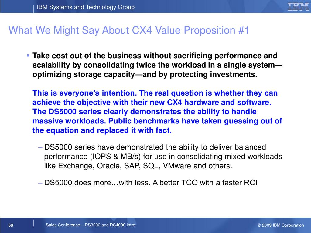 What We Might Say About CX4 Value Proposition #1