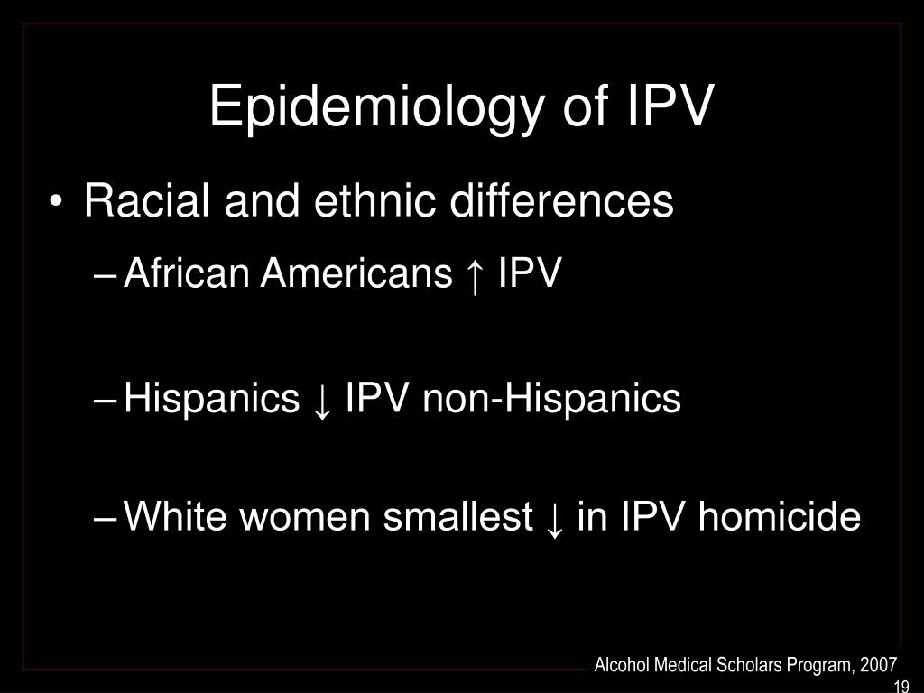Epidemiology of IPV