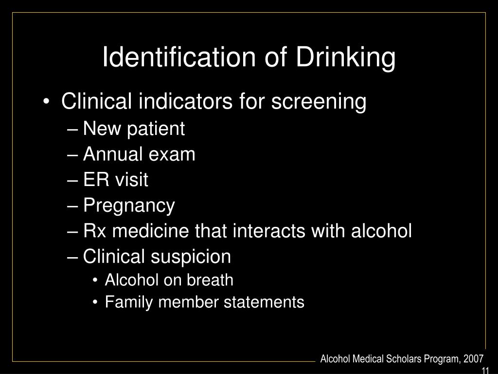 Identification of Drinking