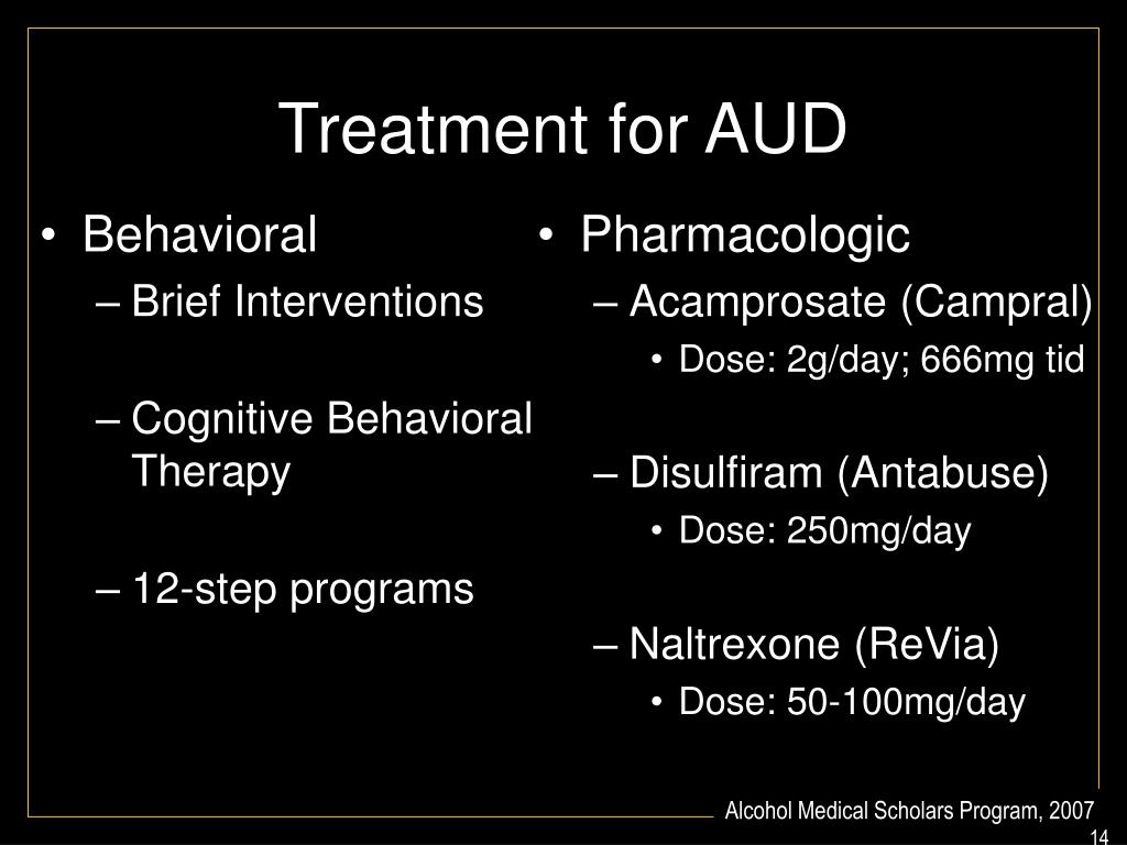 Treatment for AUD