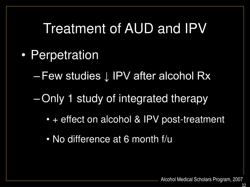 Treatment of AUD and IPV