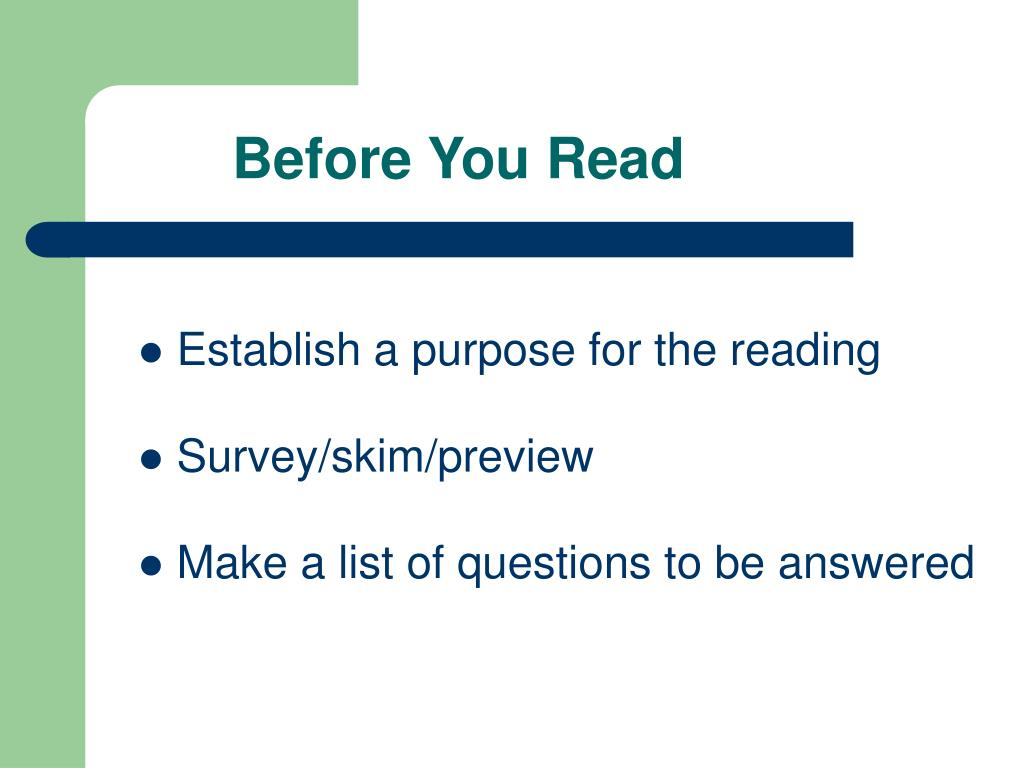 Before You Read