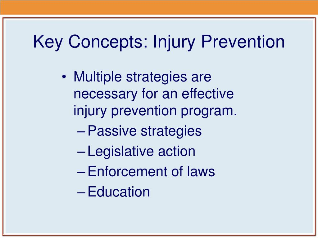 Key Concepts: Injury Prevention