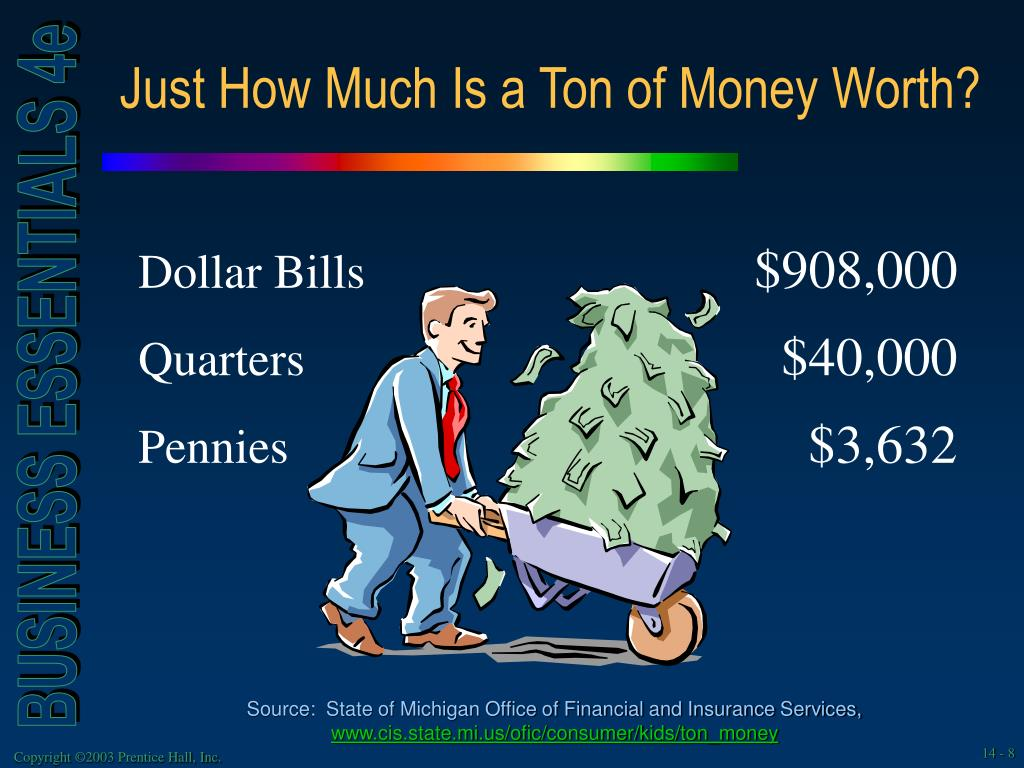 Just How Much Is a Ton of Money Worth?
