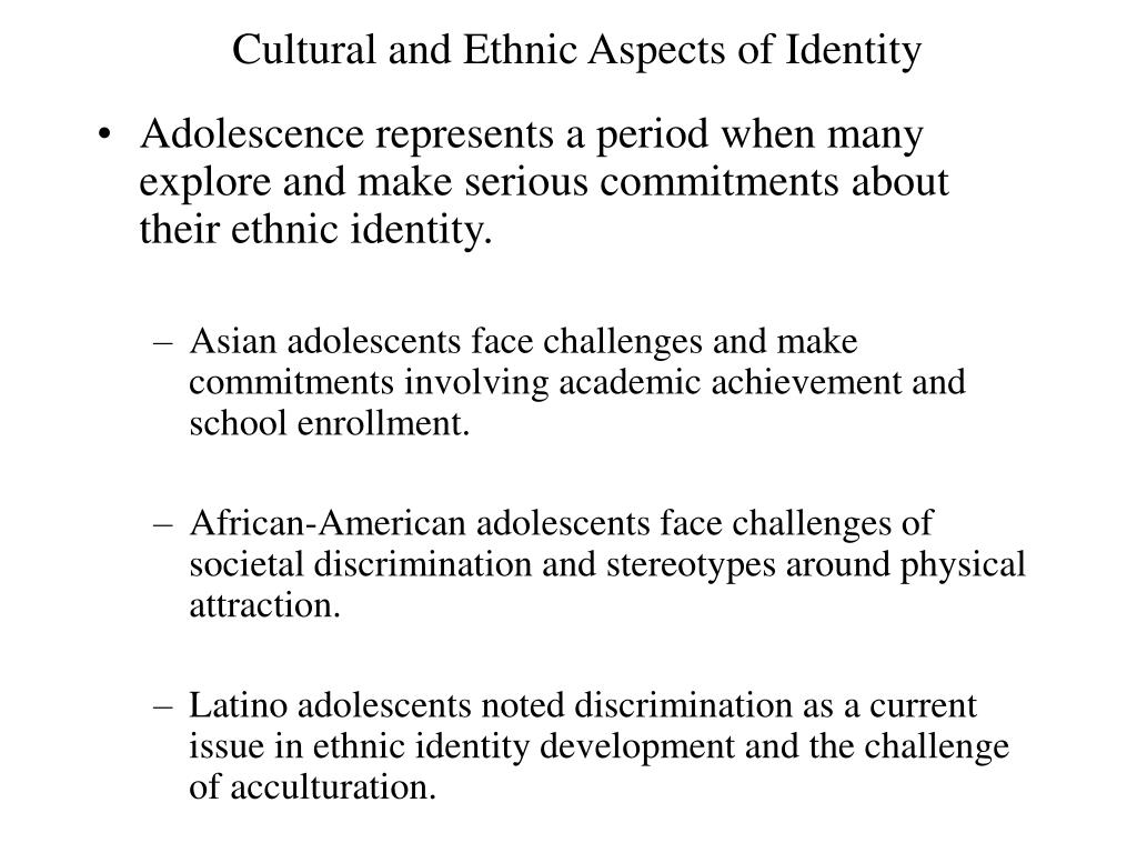 Cultural and Ethnic Aspects of Identity