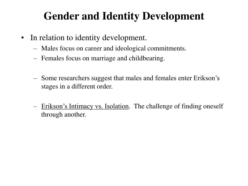 Gender and Identity Development