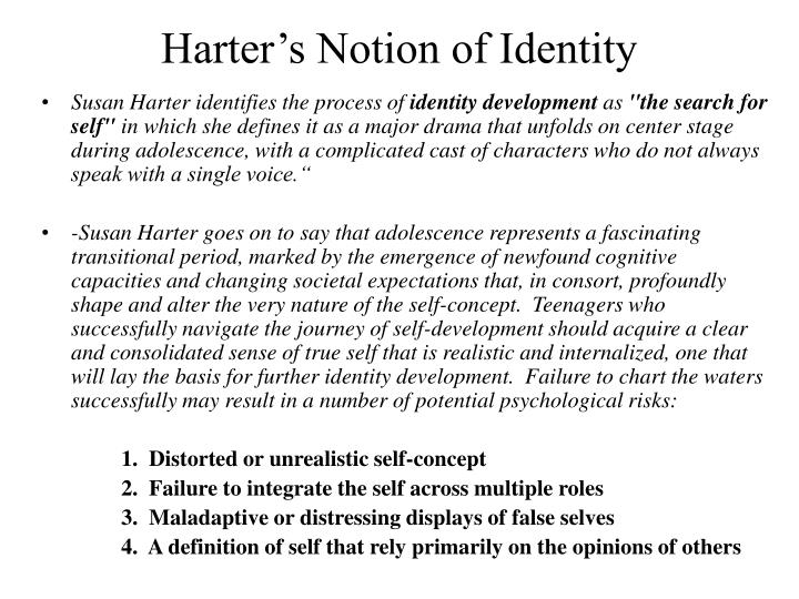 Harter s notion of identity