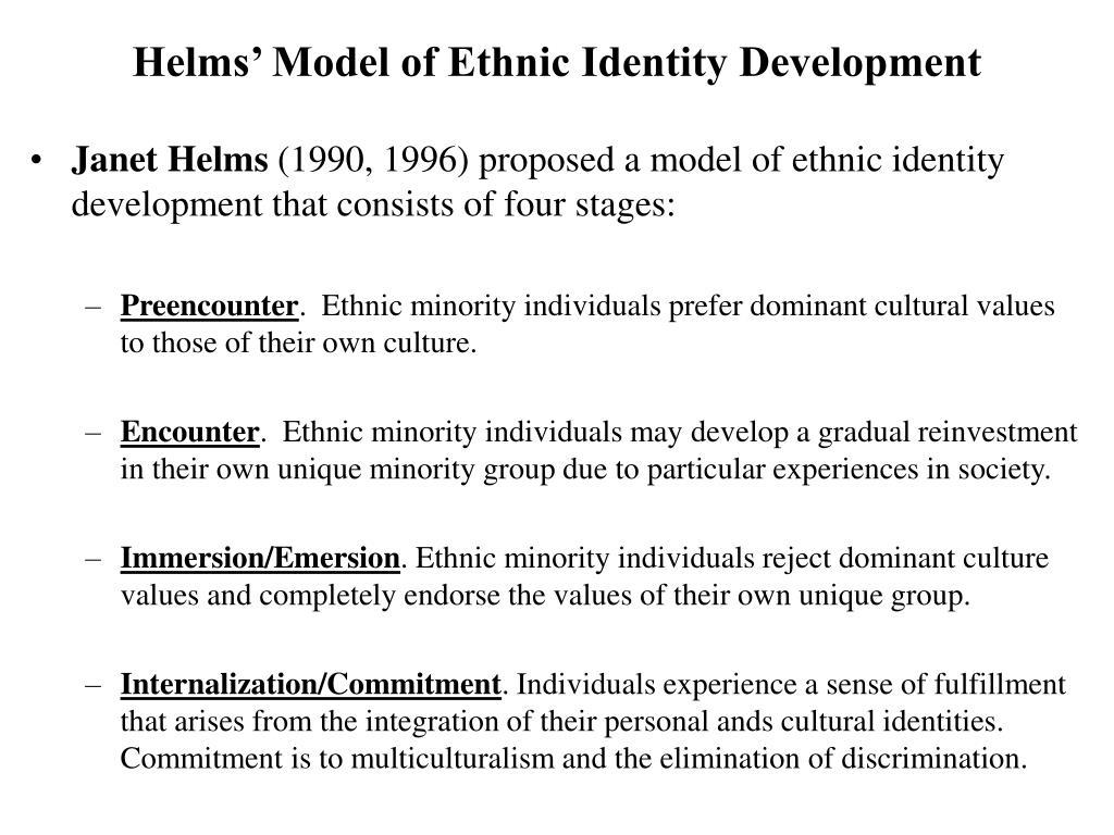 Helms' Model of Ethnic Identity Development