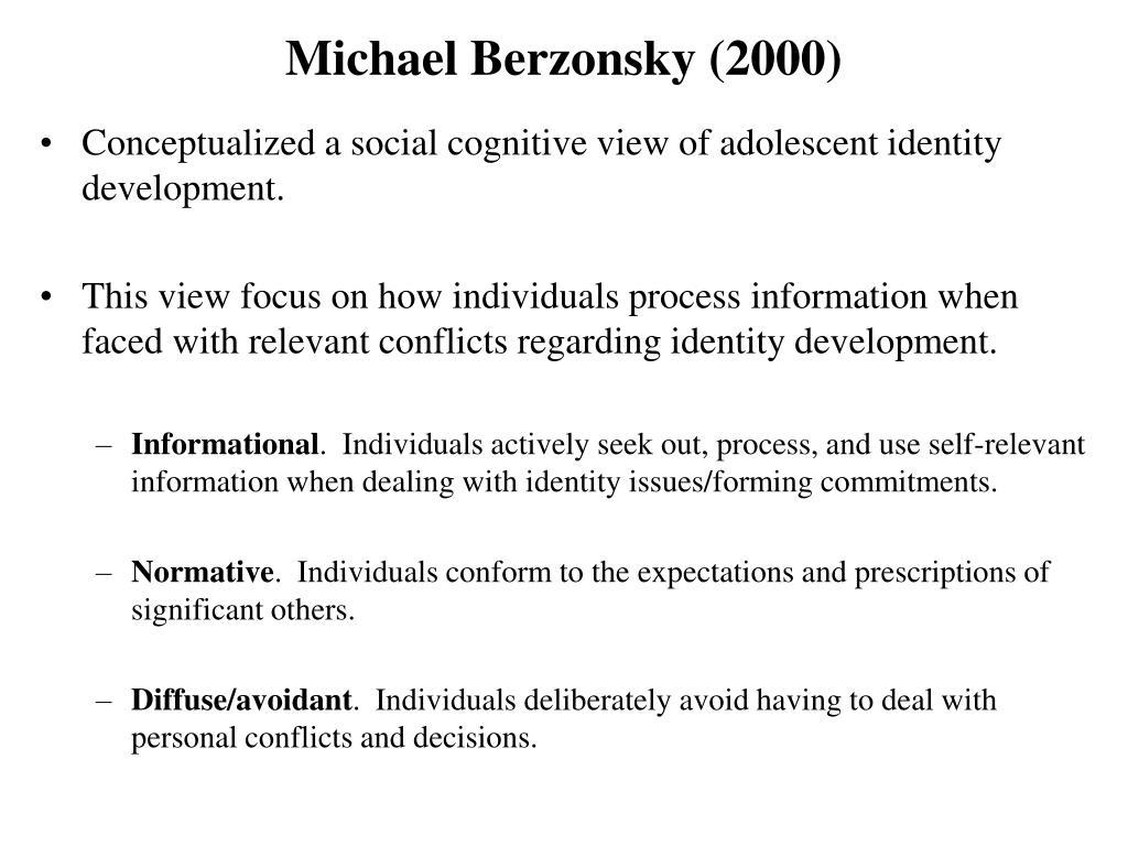 Michael Berzonsky (2000)
