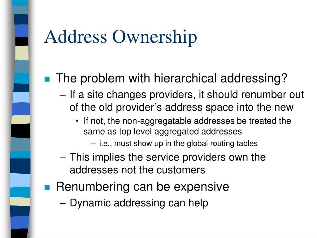Address Ownership