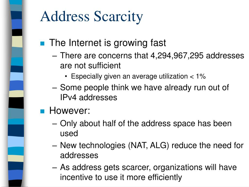 Address Scarcity