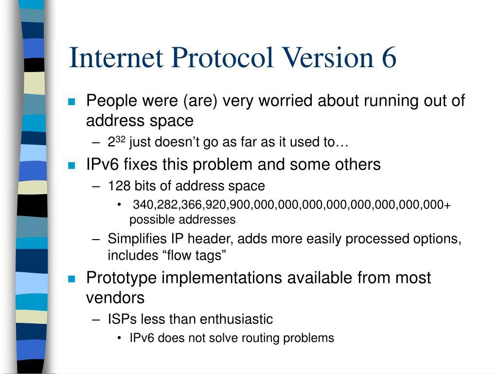 Internet Protocol Version 6
