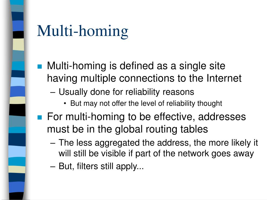 Multi-homing