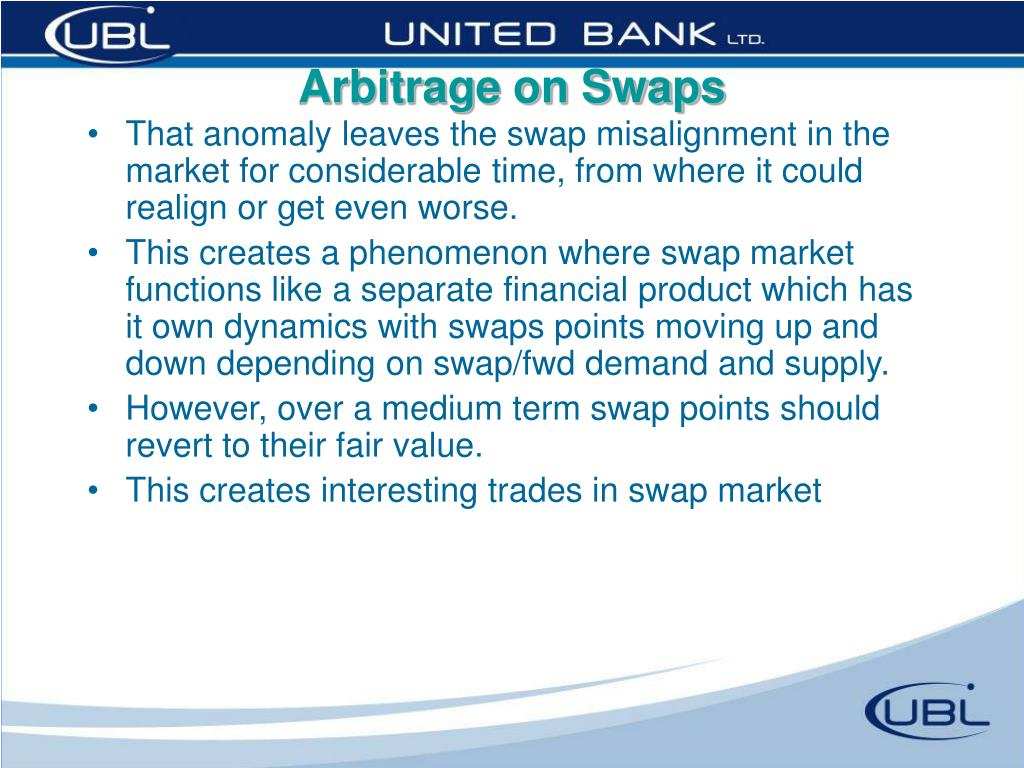 Arbitrage on Swaps