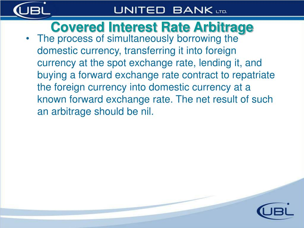 Covered Interest Rate Arbitrage